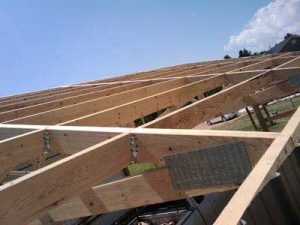 post frame roof construction