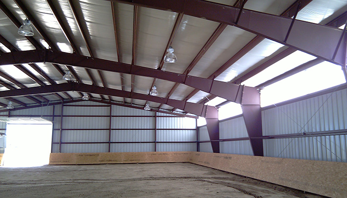 Steel buildings all specialty buildings inc for Metal house kits prices