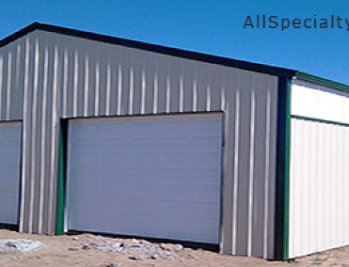 Two Car Metal Sided Garage – Ellicott, Colorado