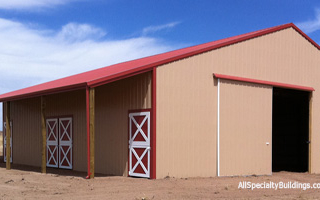metal horse barn - Falcon, Colorado