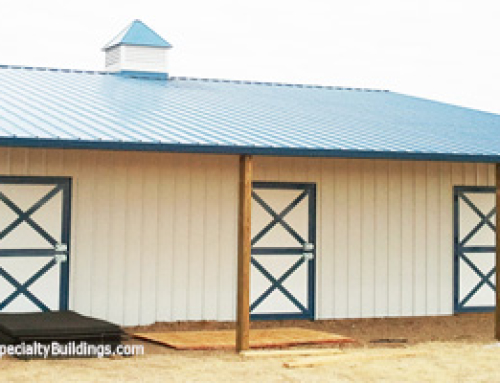 Custom Metal Pole Barn with Horse Stalls – Yoder, Colorado